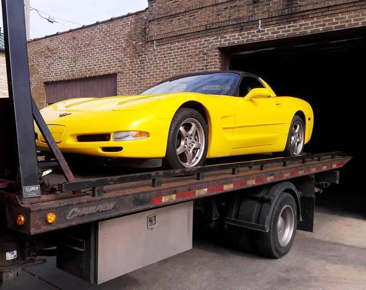 Corvette Towing Naperville, Aurora, Lisle, IL