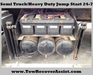 Semi Truck Battery Jump Start Naperville, Aurora, Chicagoland, Illinois