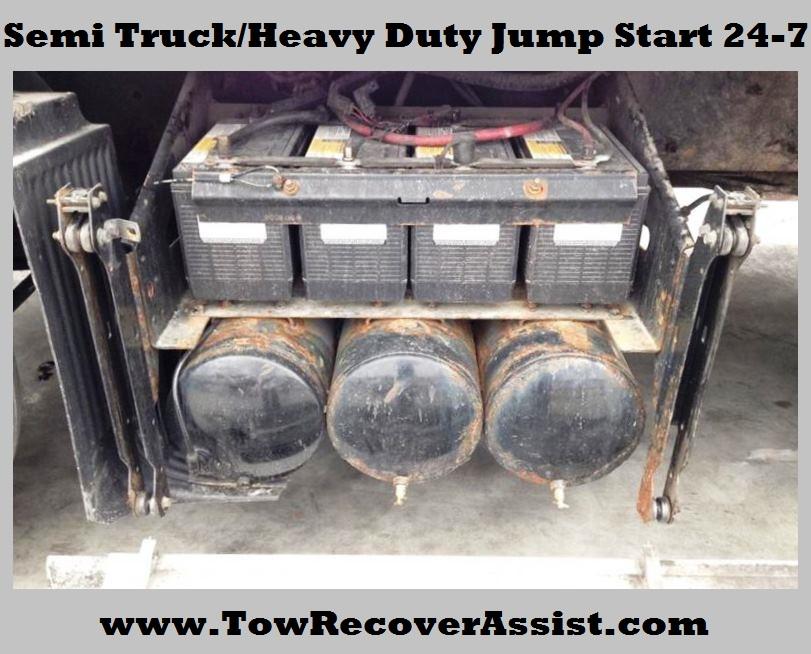 Semi Truck Heavy Duty Jump Start Chicagoland Illinois